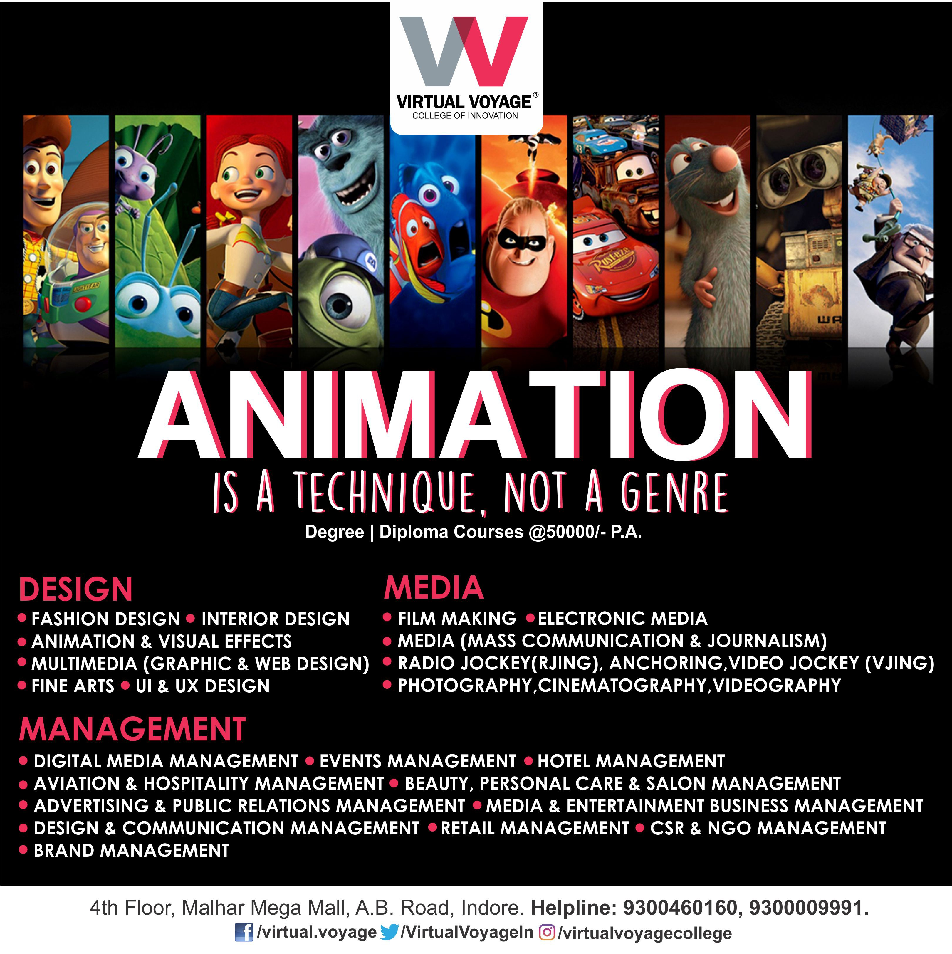 Best Courses In Animation Visual Effects From Virtual Voyage College Indore India By Virtualvoyage Medium