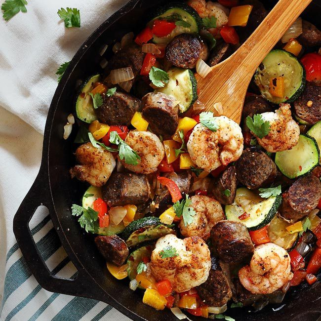 20 Minute Shrimp and Sausage Skillet