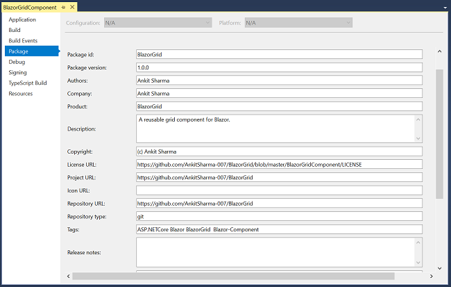 How To Publish A Blazor Component To Nuget Gallery - The