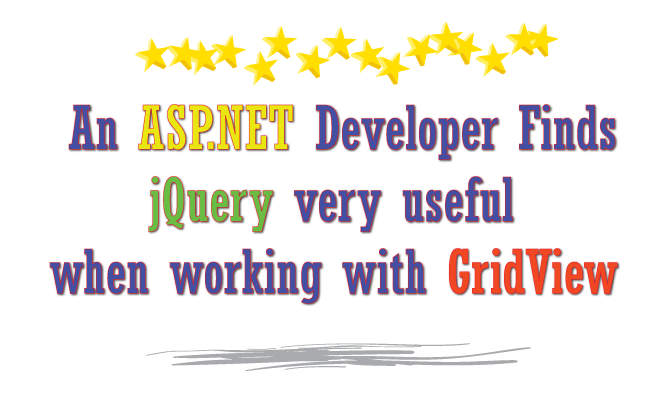 An ASP NET Developer Finds jQuery very useful when working