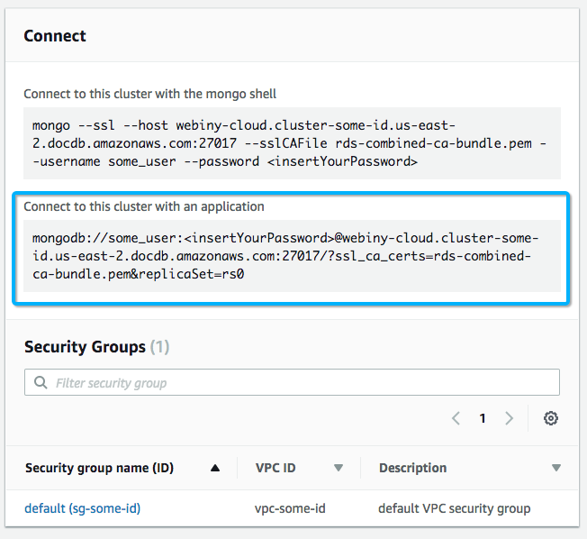 Connecting to AWS DocumentDB from a Lambda function