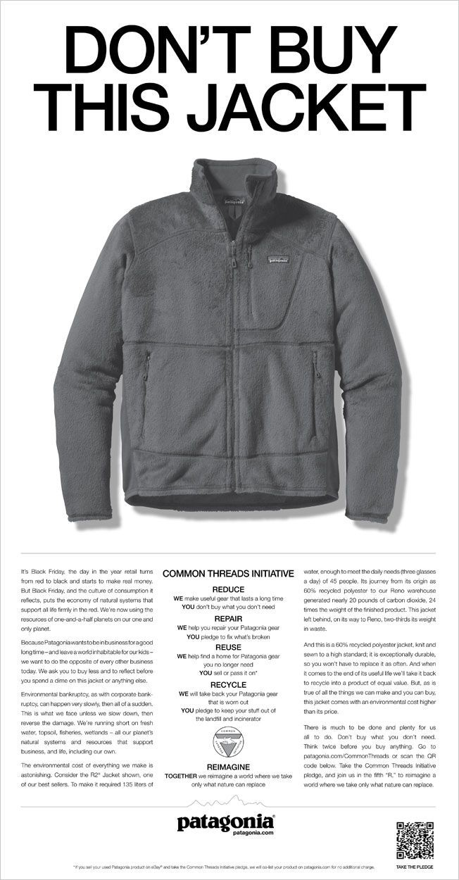 """Don't Buy This Jacket"""" — Patagonia's Daring Campaign   by Kenji Farré    Better Marketing   Medium"""