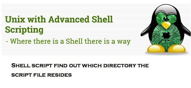 Shell script find out which directory the script file resides?