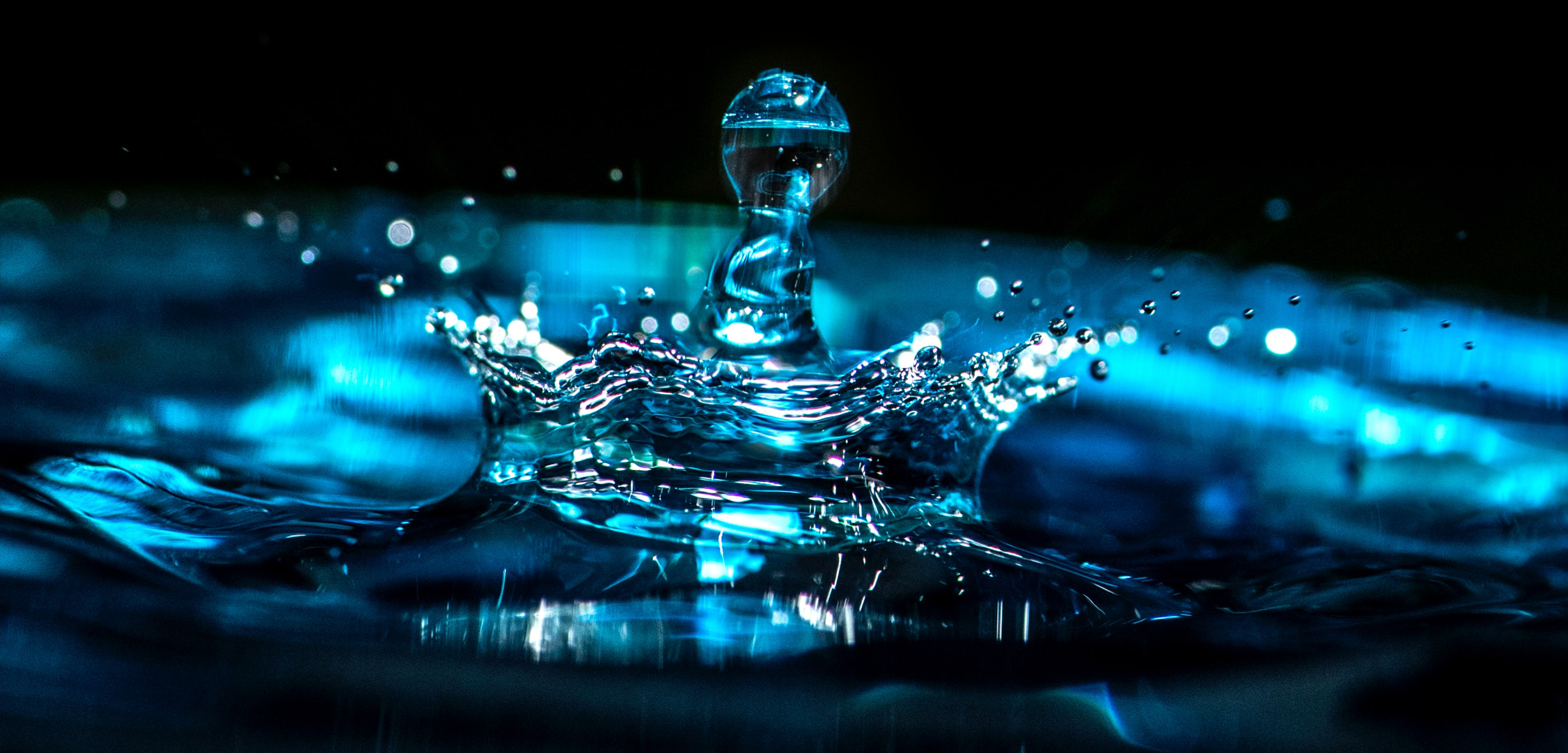 A close-up of a water droplet.