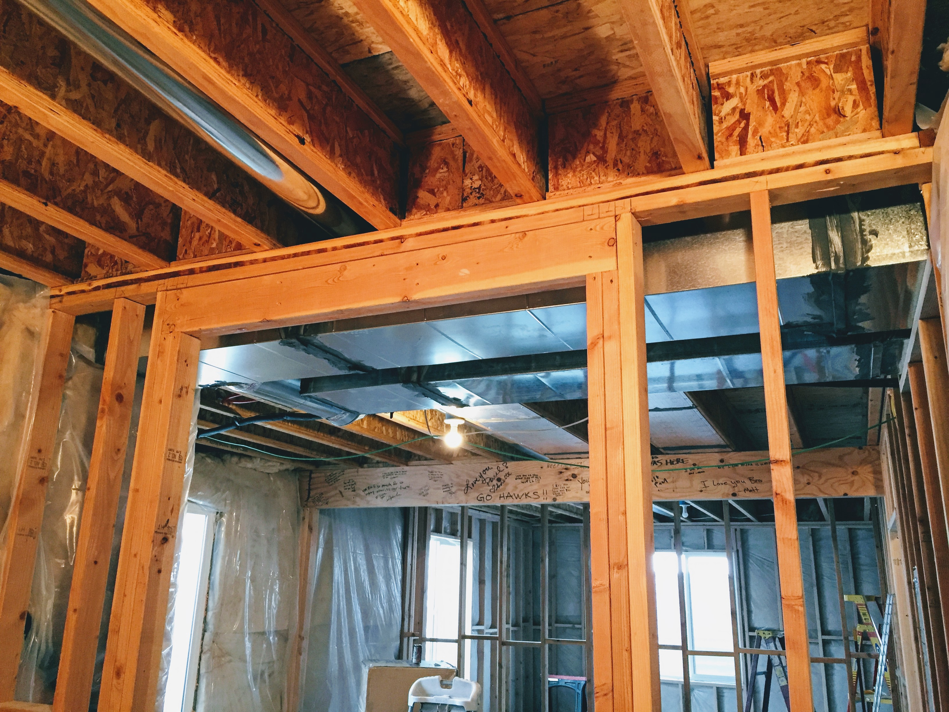Replacing A Second Load Bearing Wall With A Double Lvl Beam By Alexander Jenkins Medium