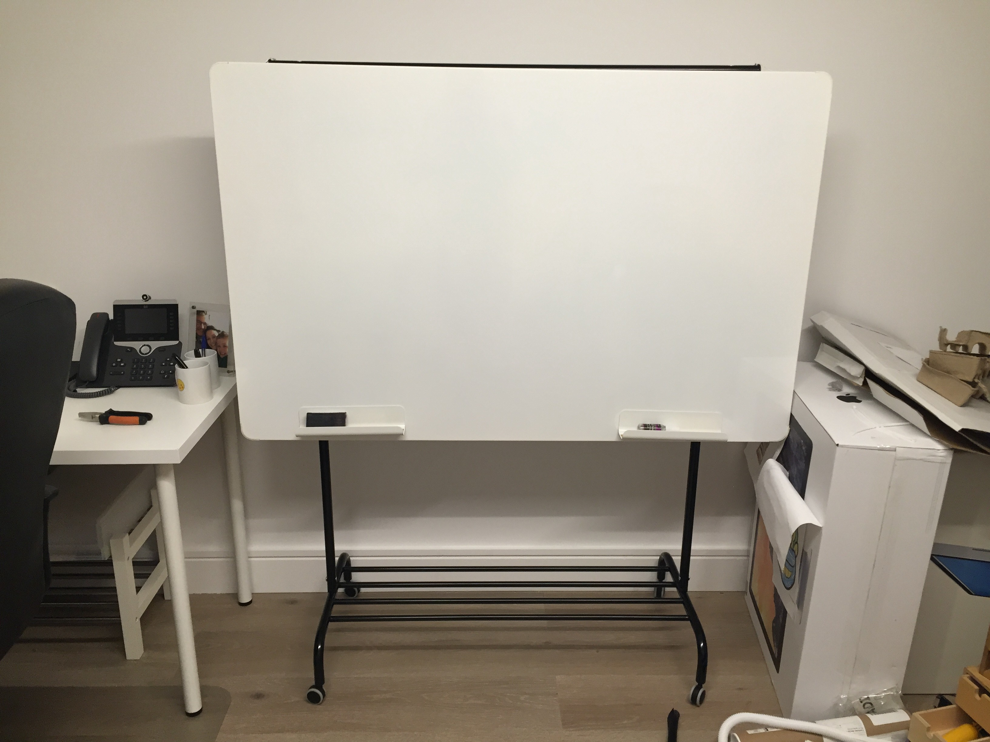 Wheeled Whiteboard On A Budget Inspired By The D School Z Rack I Built By Stewart Curry Medium
