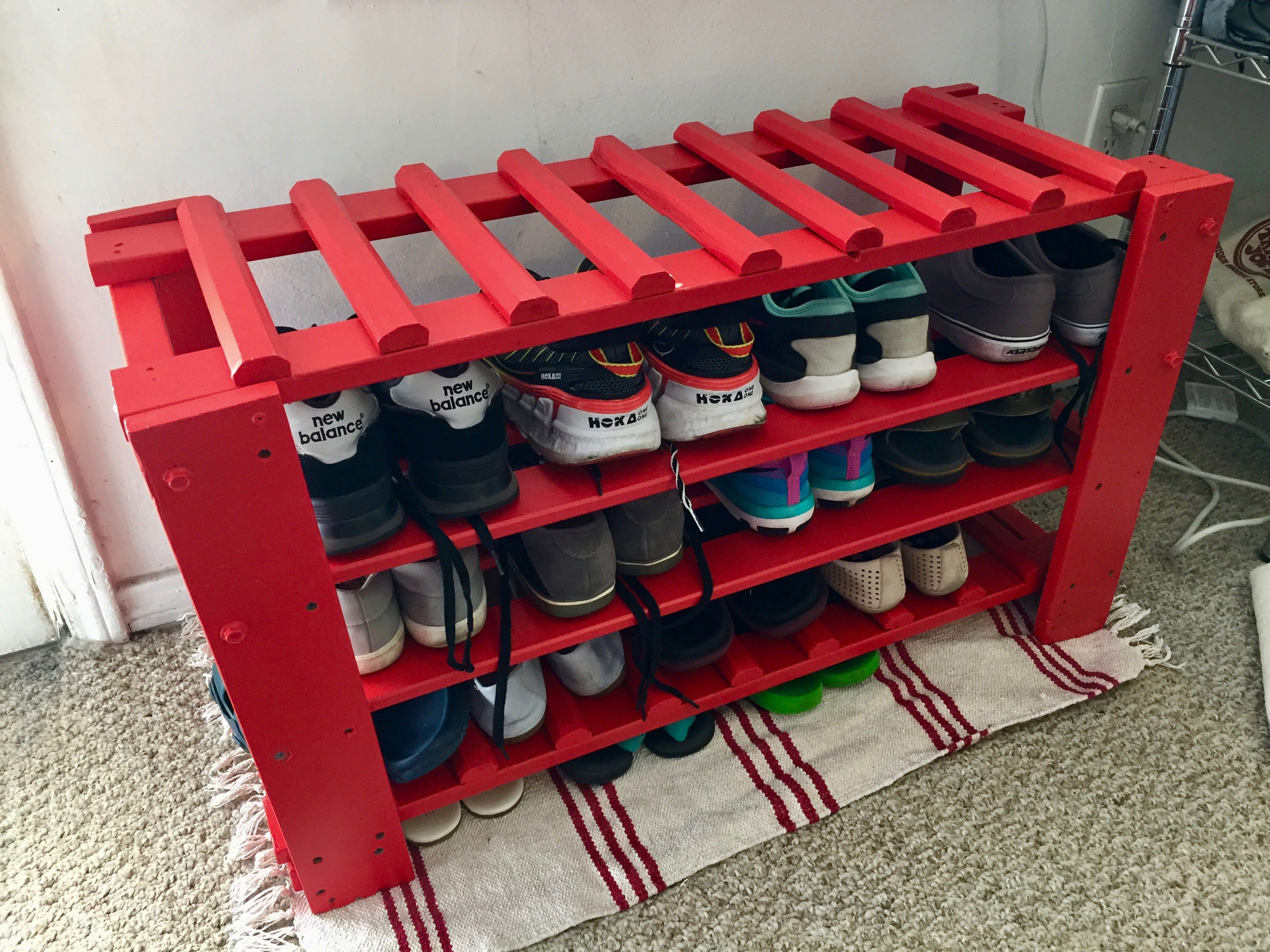 Diy Shoe Rack Modifying Replacing Rethink Reviews
