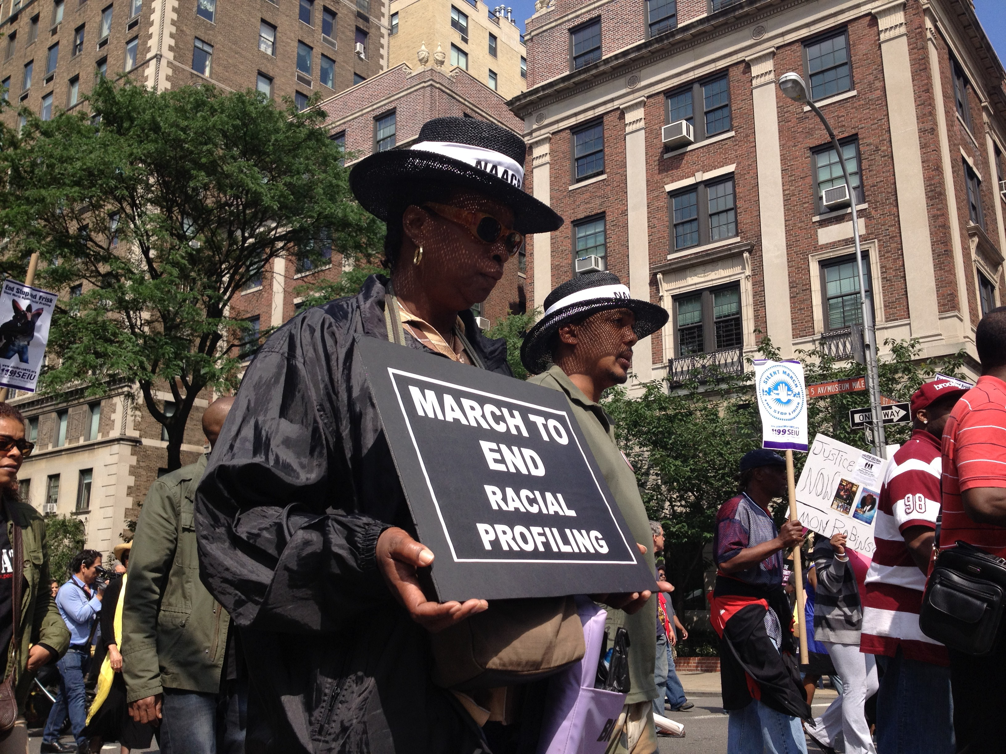 Protesters march to end racial profiling in New York City