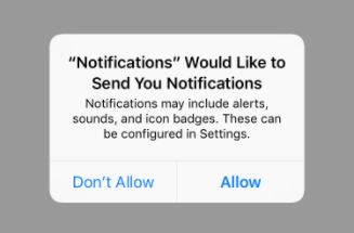 Request Permission for User Notifications