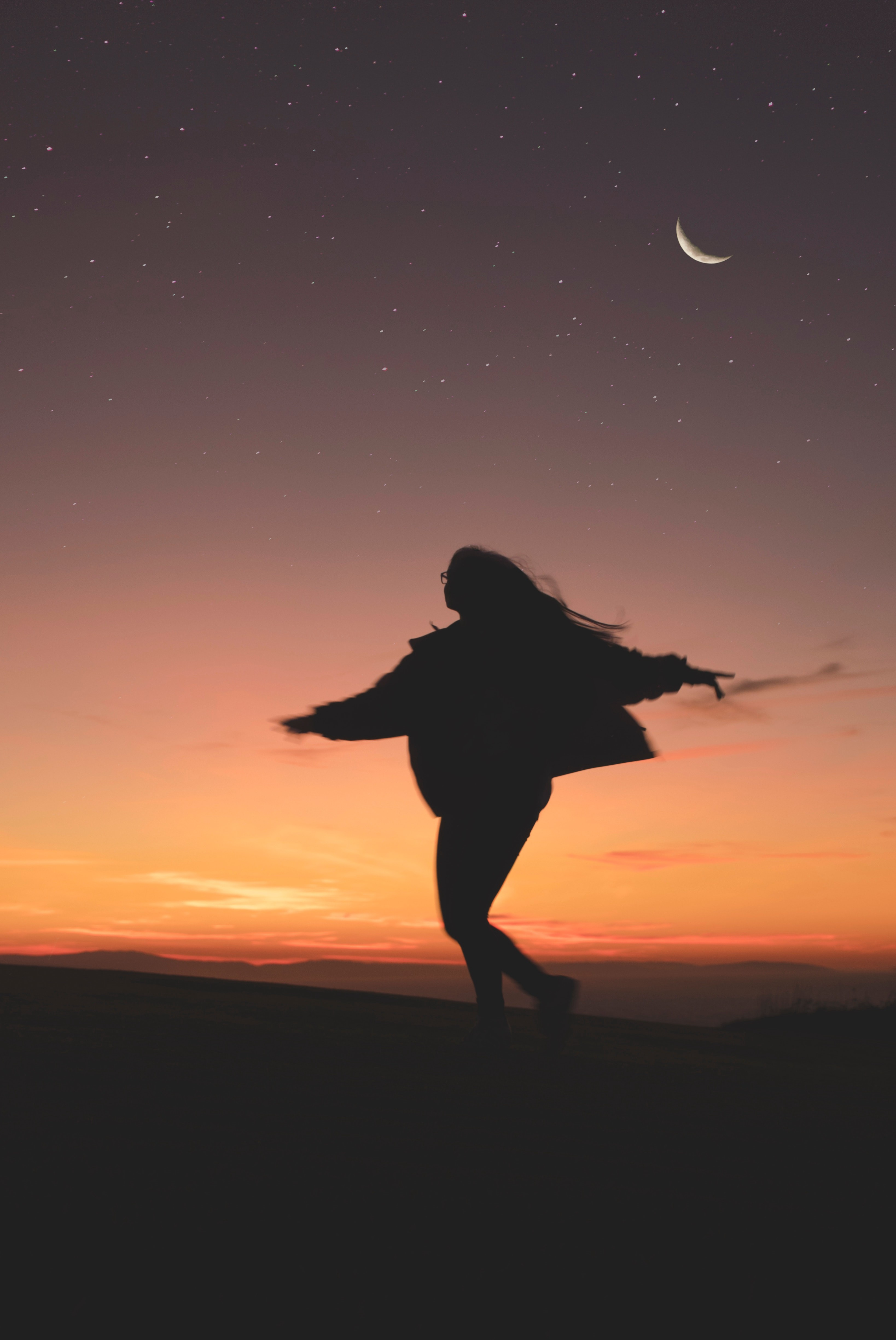 Silohette of lady dancing in sunset—Find your Passion—Amy Marley