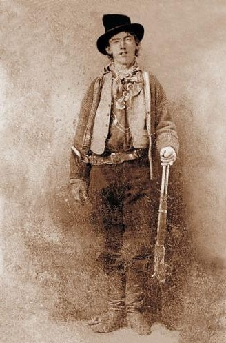 A grimy  outfit for Billy the Kid