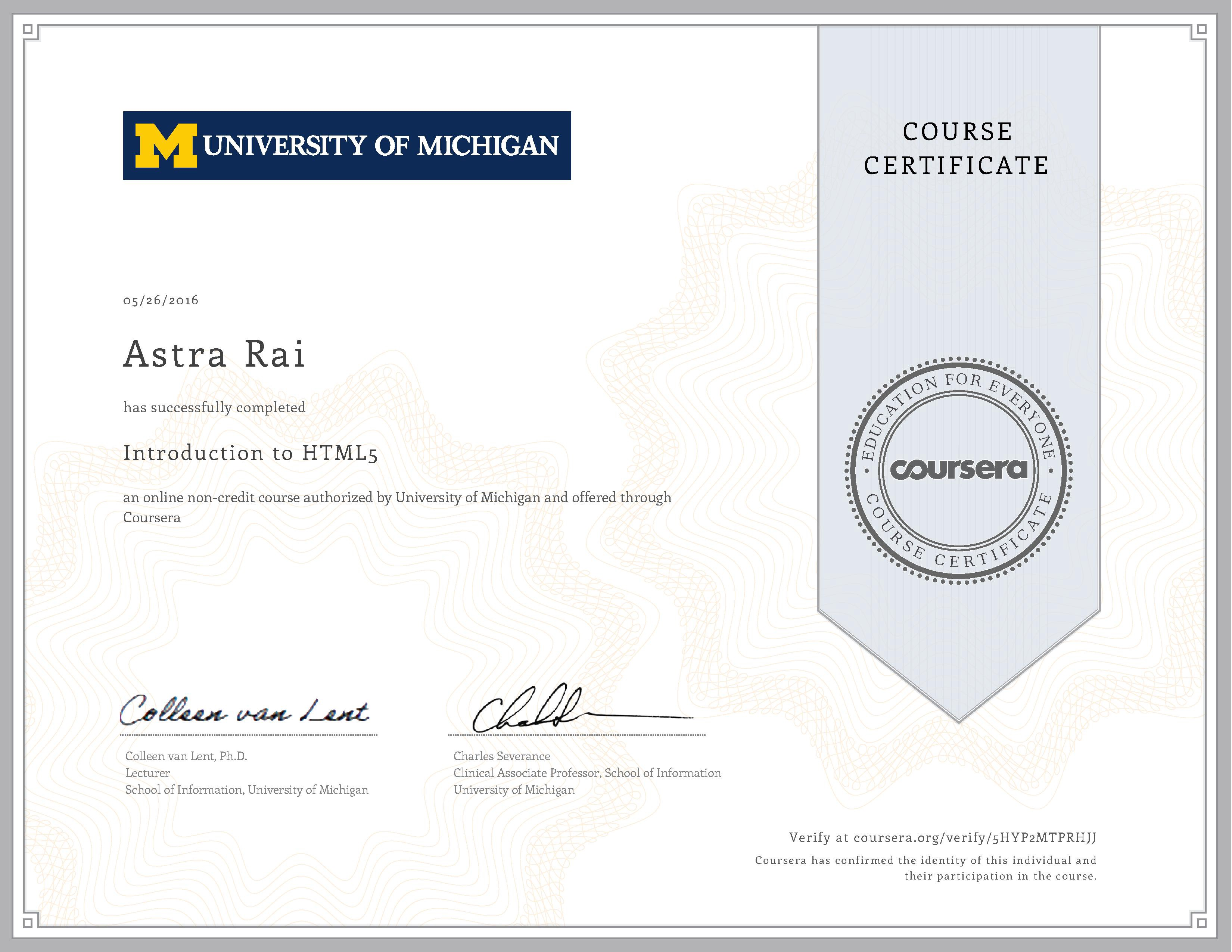 Html5 Css3 Learning Journey Part 4 Html5 Coursera Course Review By Astra Rai Medium