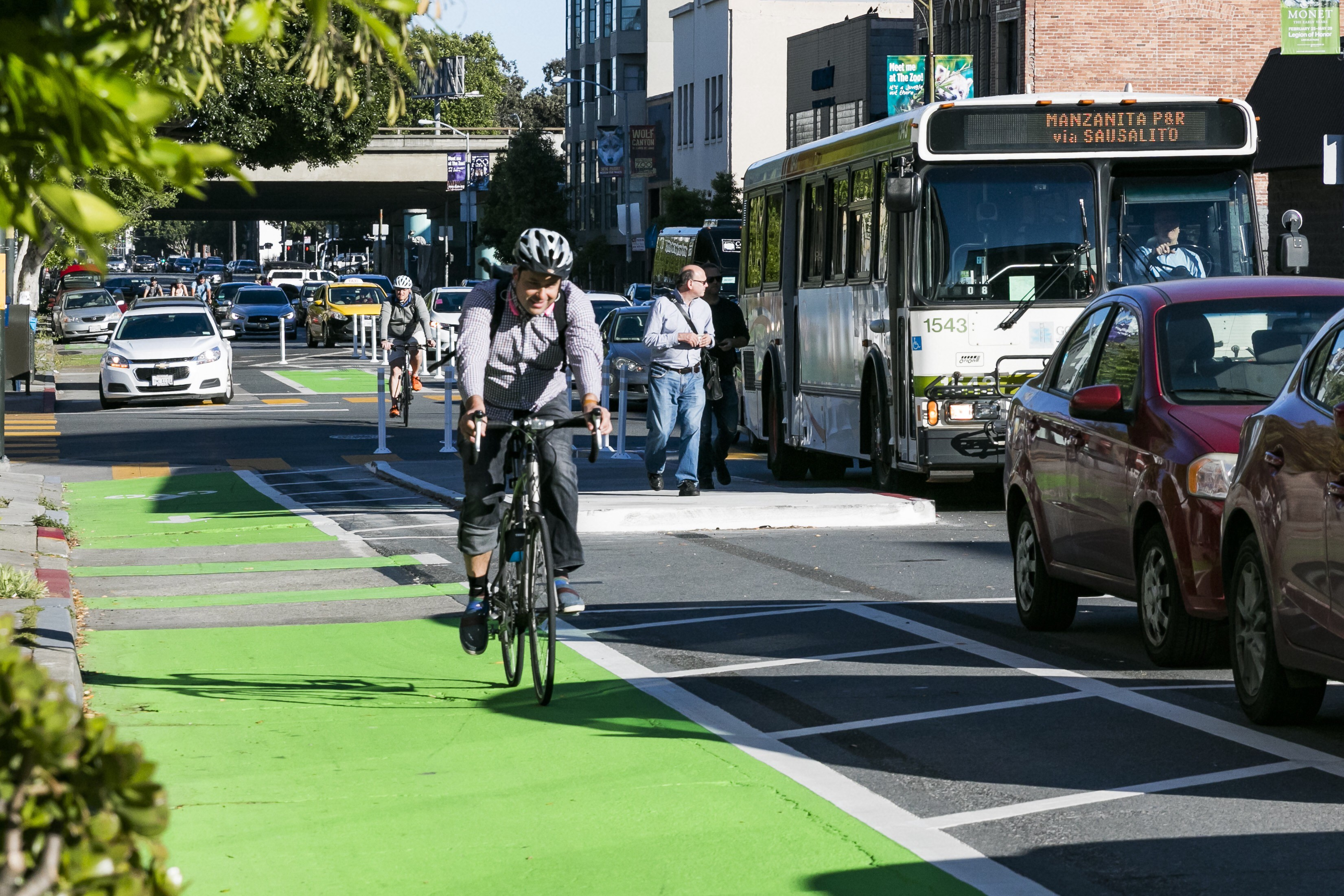 SFMTA completes parking-protected bike lanes on 7th and 8th