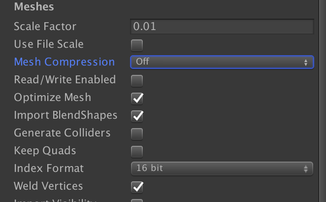Mesh compression in Unity: Why is the memory of my game