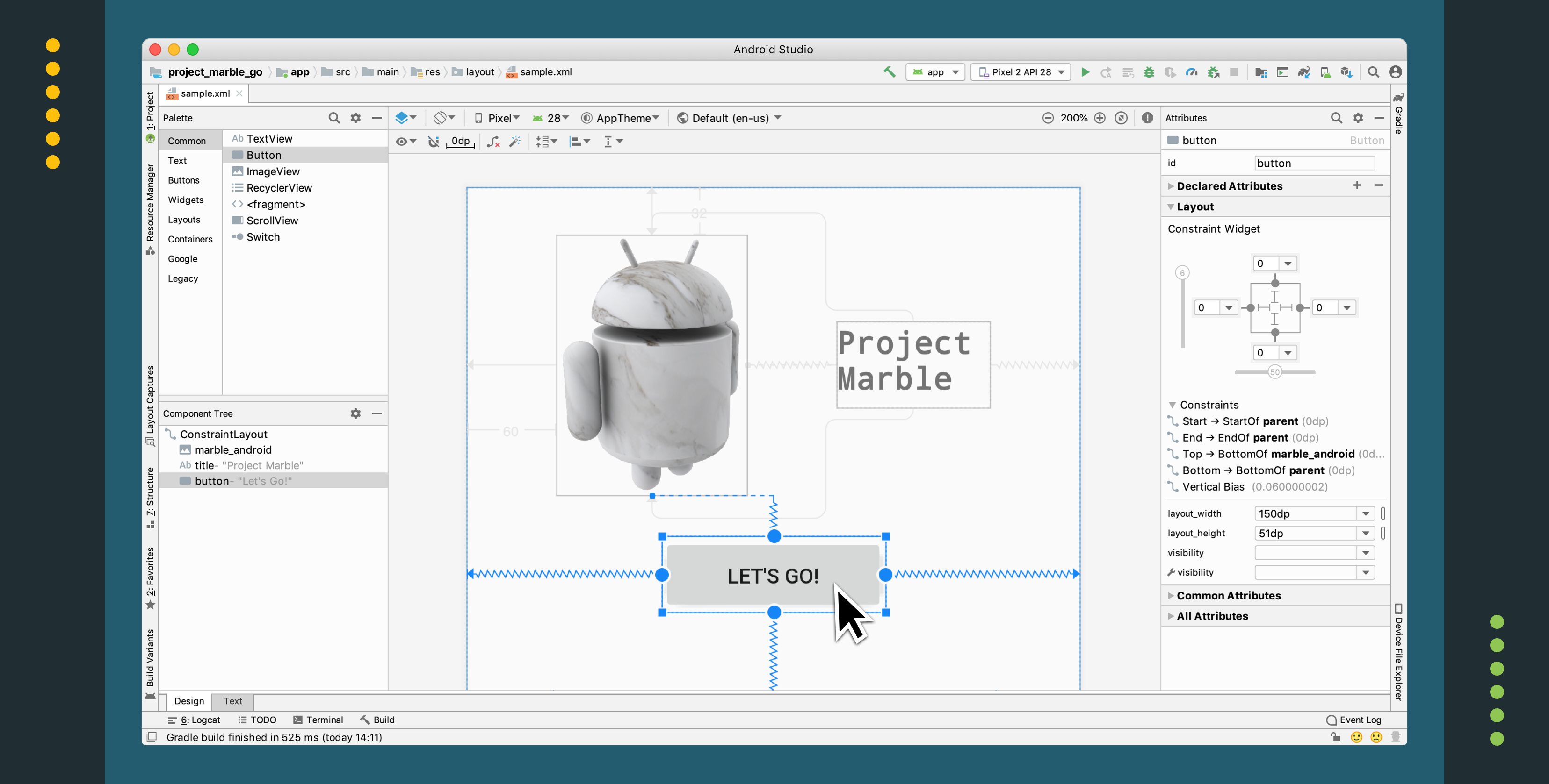 Android Studio Project Marble: Layout Editor - Android