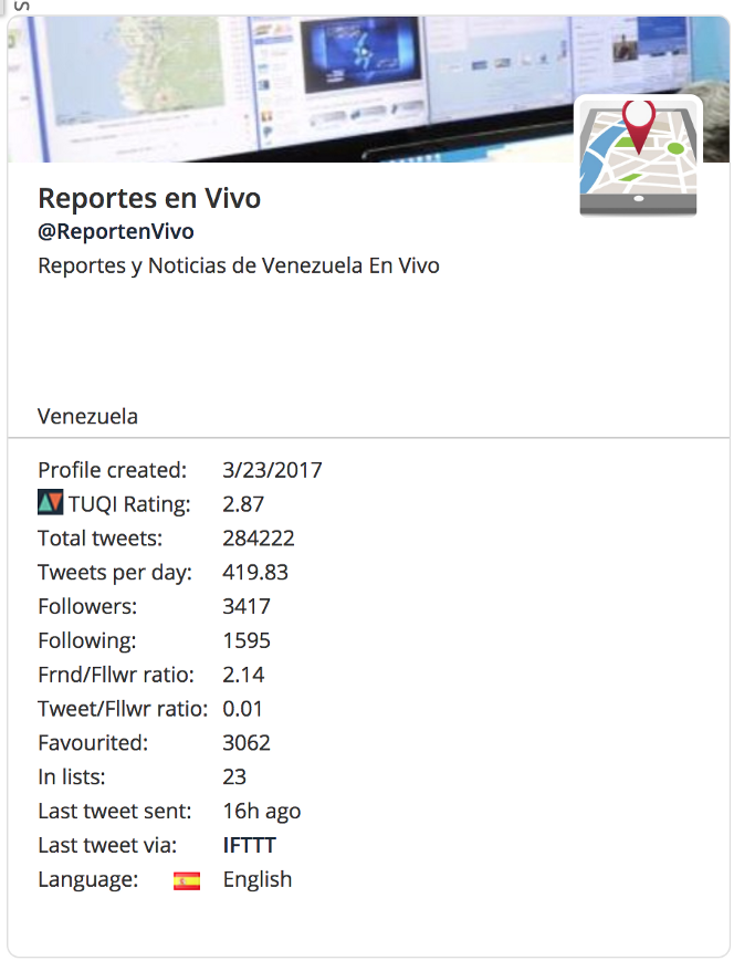 Social media automation & infowars by the Venezuelan opposition