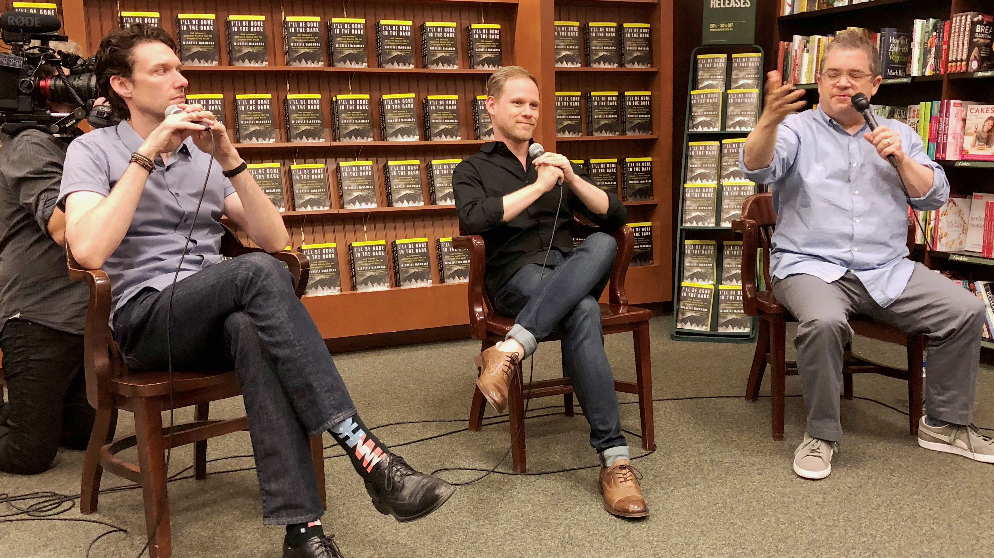 Photo of Billy Jensen, Paul Haynes and Patton Oswalt at Barnes and Noble in Citrus Heights.