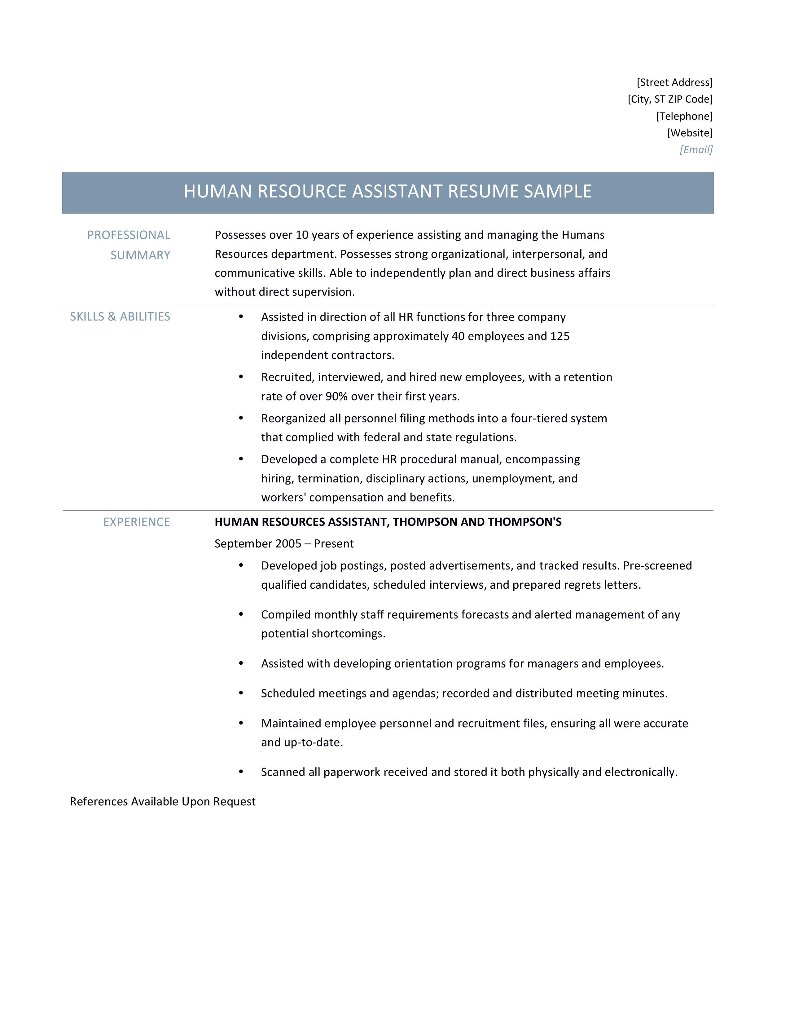 Human Resources Manager Resume Samples Tips And Templates By Online Resume Builders Medium