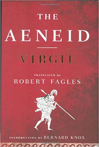 Cover in red of Virgil's Aeneid, translated by Robert Fagles.