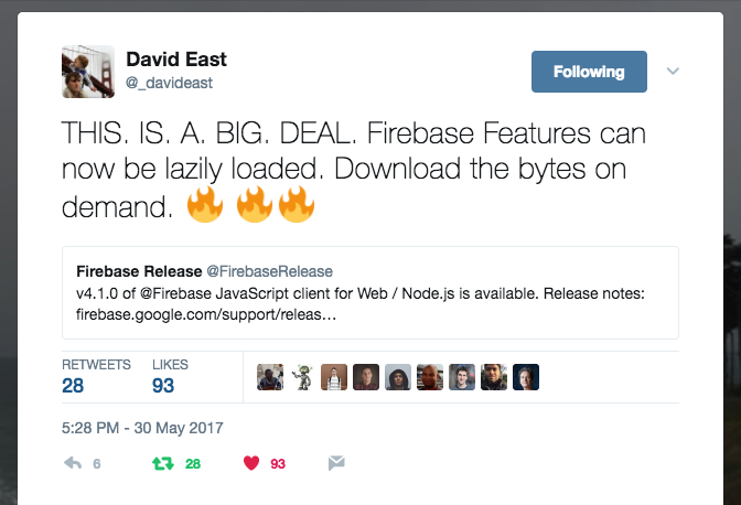 Lazy Loading with Firebase 4.1.x