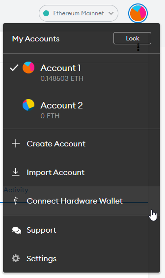 Satochip—Connect your hardware wallet with Metamask.