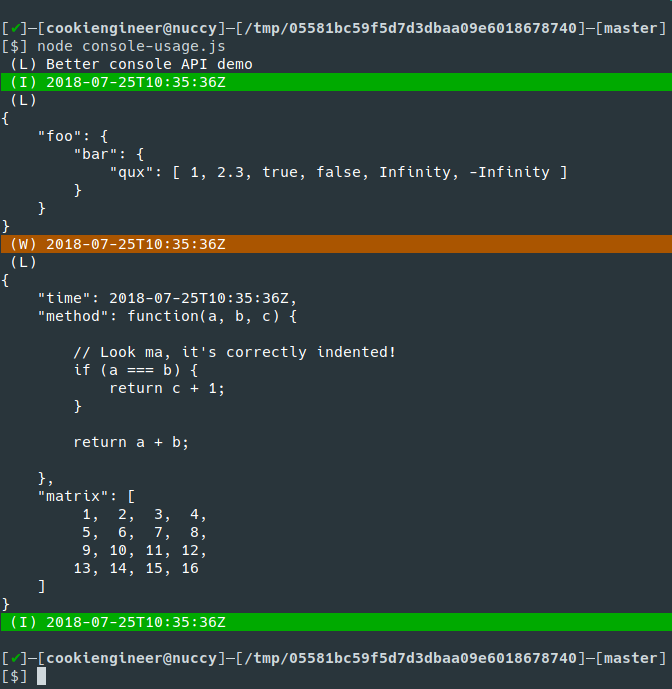 Why I implemented my own JSON stringify() and console API