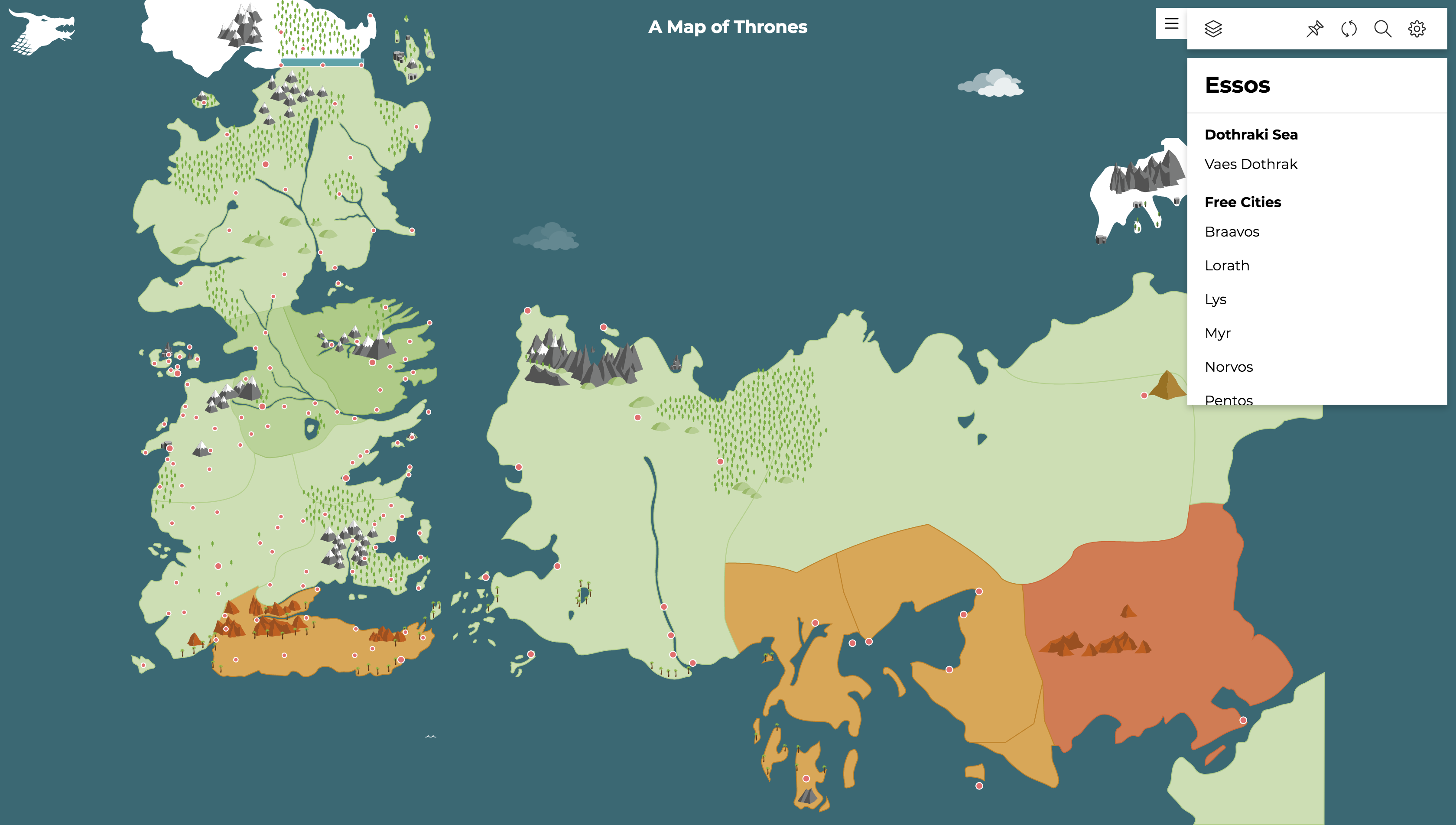 An interactive Game of Thrones map - Max Hermansson - Medium on a golden crown, a storm of swords map, justified map, game of thrones - season 2, jericho map, gendry map, dallas map, a storm of swords, qarth map, the kingsroad, a game of thrones, got map, spooksville map, guild wars 2 map, bloodline map, the pointy end, lord snow, game of thrones - season 1, works based on a song of ice and fire, winter is coming, tales of dunk and egg, clash of kings map, star trek map, winterfell map, a clash of kings, jersey shore map, downton abbey map, a game of thrones: genesis, walking dead map, sons of anarchy, themes in a song of ice and fire, fire and blood, camelot map, world map, a game of thrones collectible card game, the prince of winterfell, valyria map, narnia map,
