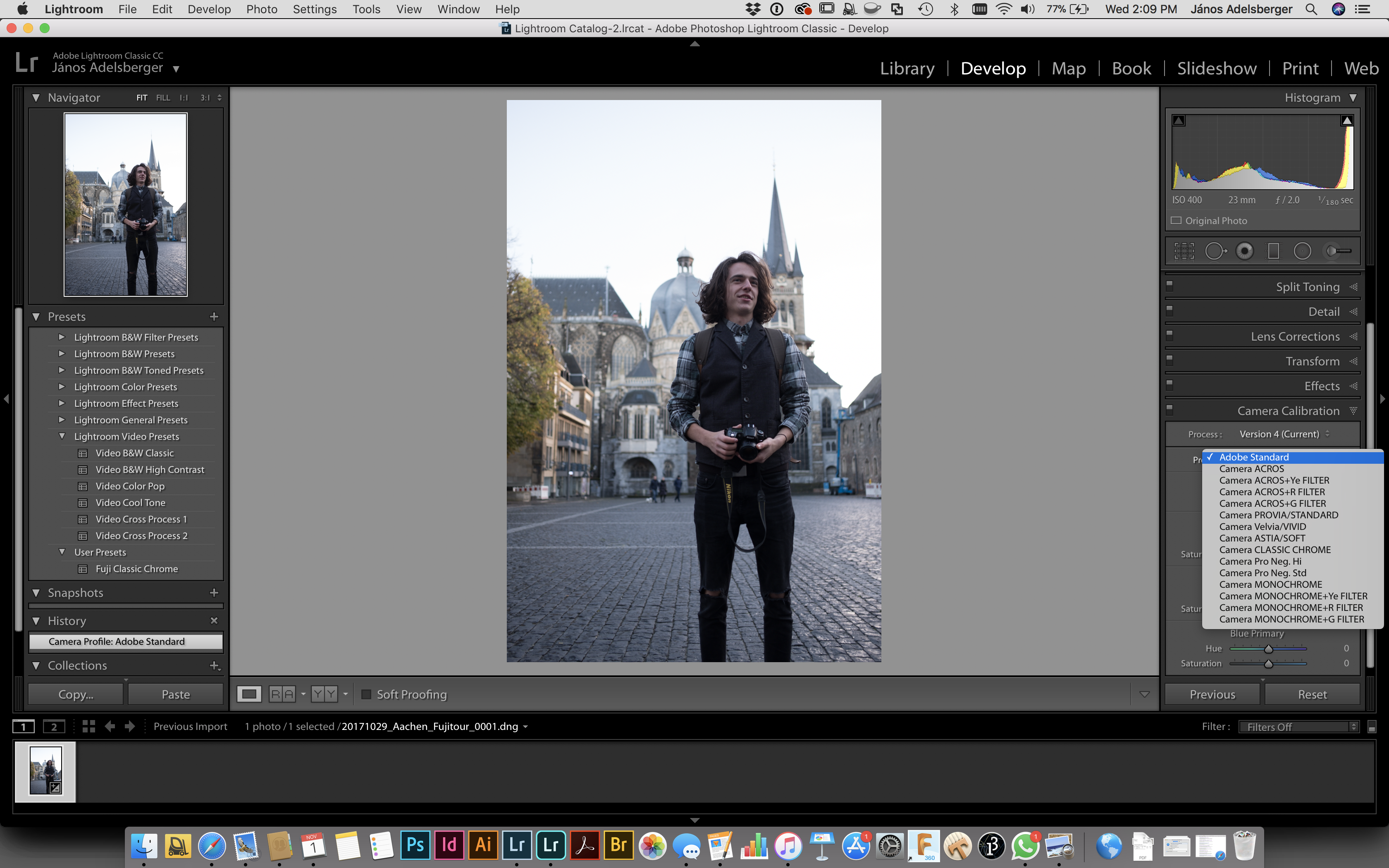 Fuji Film Simulation for RAW in the new Lightroom CC