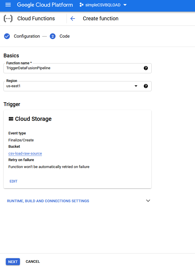 umair-akbar-0*n 4qniEmHKAKF825 - End-to-end automated Analytics workload using Cloud Functions — Data Fusion — BigQuery and Data Studio