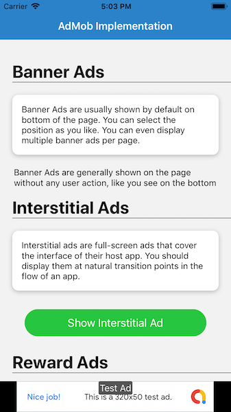 AdMob Banner Ad in React Native app