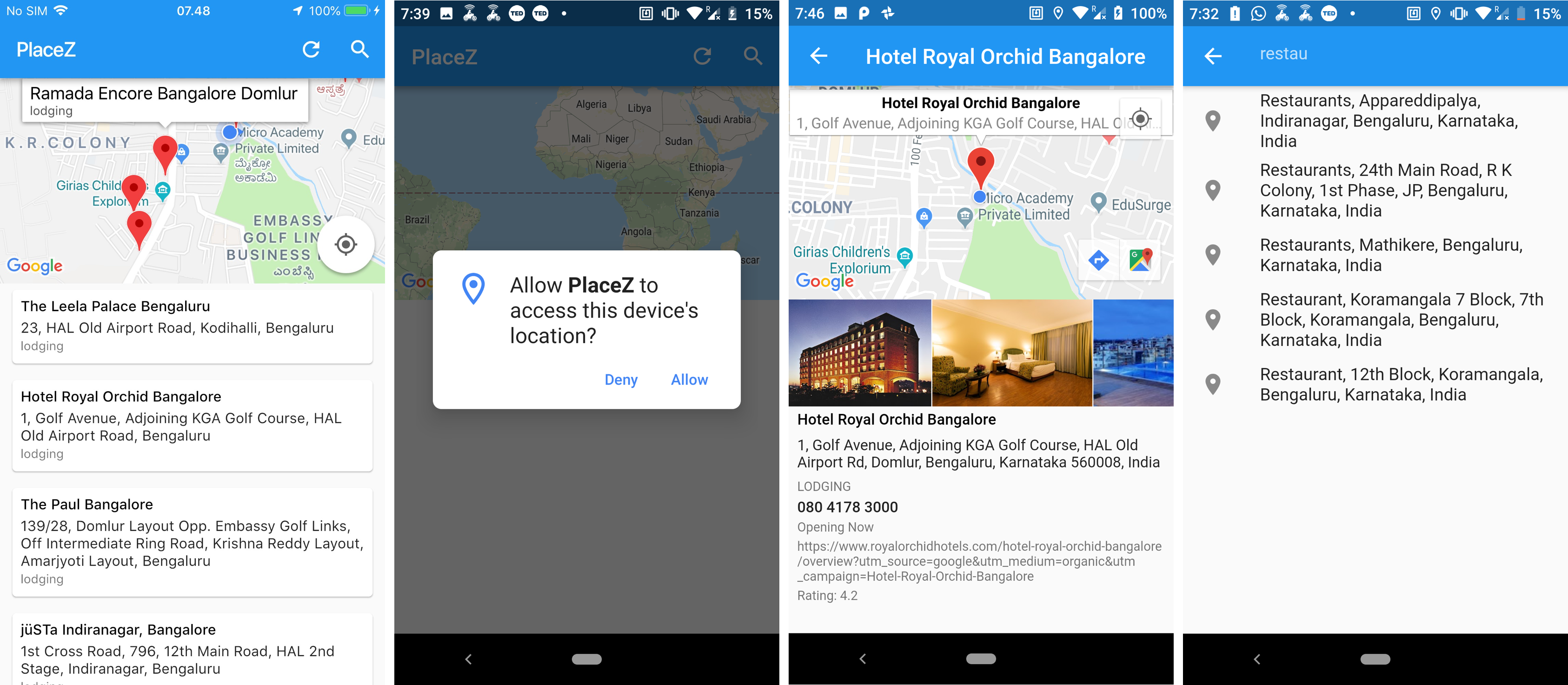 Building Places & Location Search with Map View Using