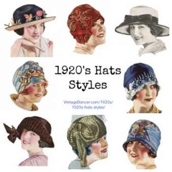 0ff827f2bc17b Women in the Jazz Age did not leave the house without a hat or some type of  head covering. Fortunately for them, there was no reason to do so with the  wide ...