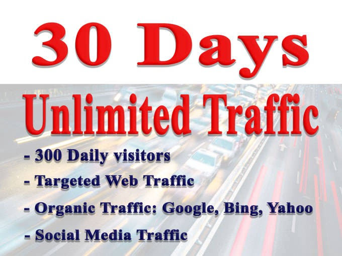 I Will Drive Unlimited Real, Targeted Website Traffic To