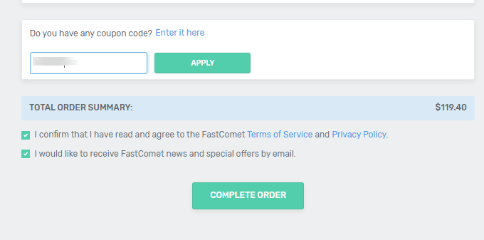 FastComet Coupon Codes