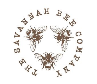 The Savannah Bee Company logo; the company's title in a circle around three bees.
