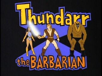 Thundarr the Barbarian Title Card From Cartoon