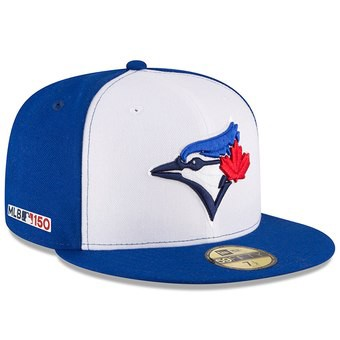 97f1df4fcd0870 Men's Toronto Blue Jays New Era White/Royal Alternate 3 MLB 150th  Anniversary Authentic Collection 59FIFTY Fitted Hat