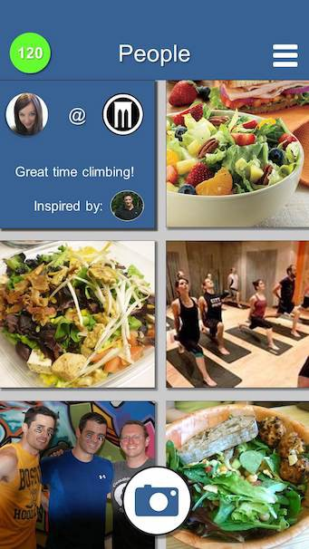 A screenshot of a prototype for a health and fitness app