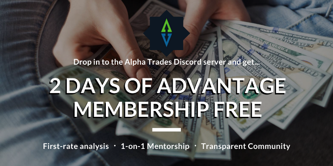 Advantage membership promo; Alpha Trades