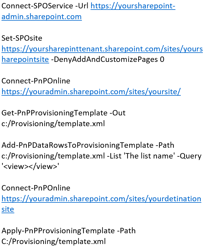 SharePoint PnP Provisioning with Data — Move Your Contents