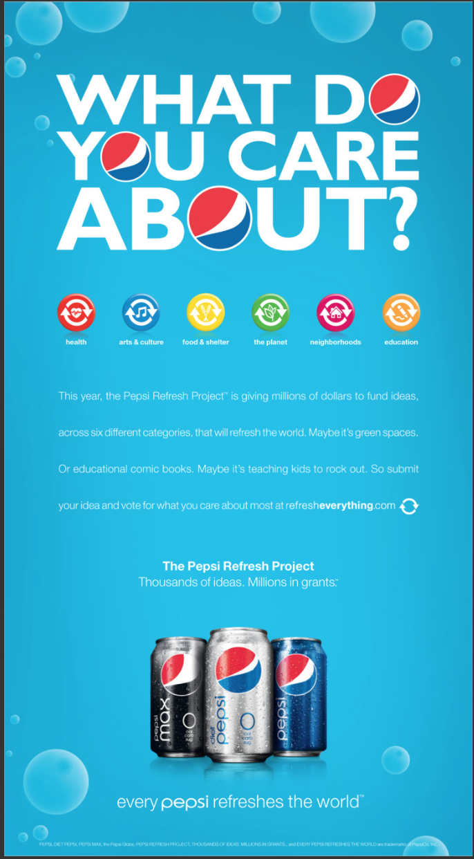 Pepsi Refresh Project — Beyond the Hype - Nidhi Titus - Medium