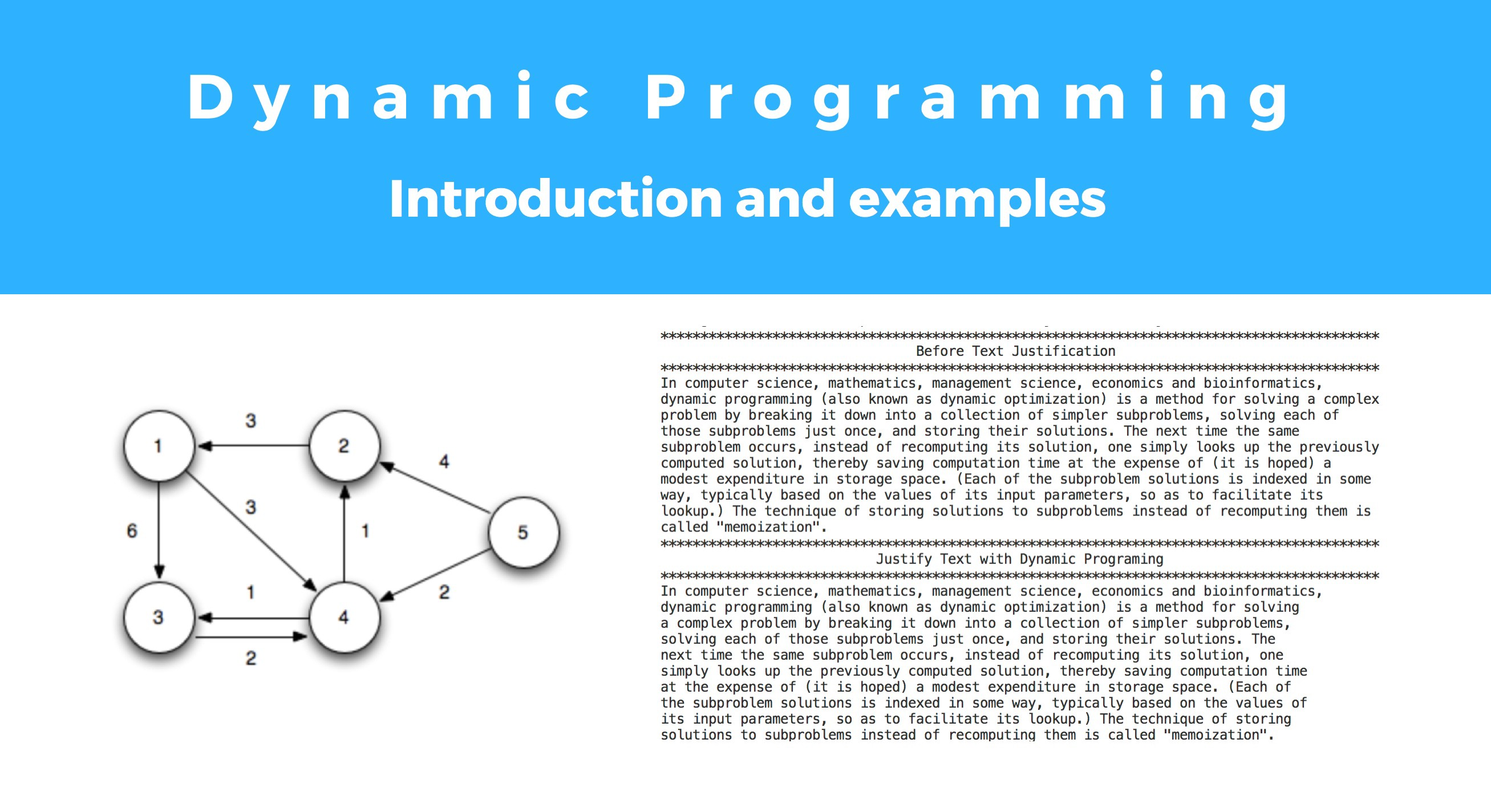 Introduction to Dynamic Programming with Examples - David