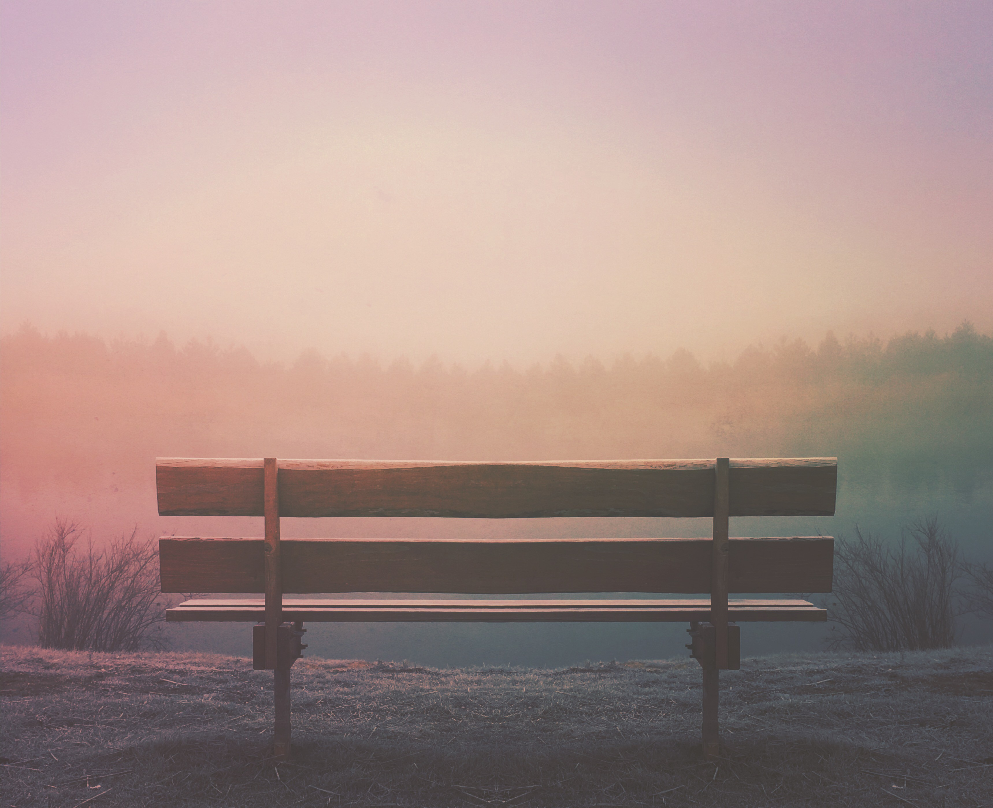 An empty bench for someone in grief