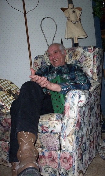A photo of my grandfather laughing.
