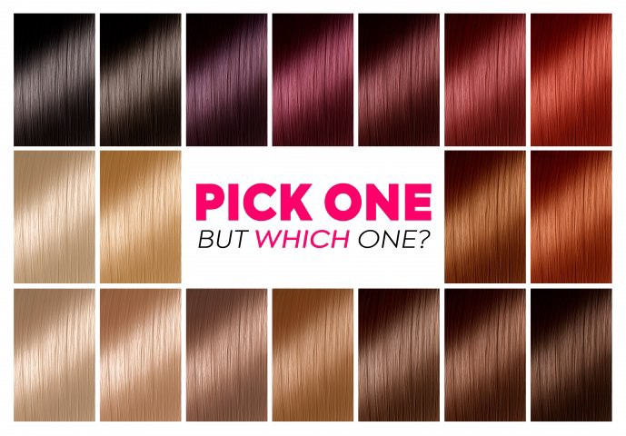 Hair Colour Chart For Blonde Colours Fair Skin Indian Dark Shade