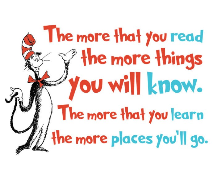 Image result for the more that you read dr. seuss quote