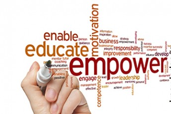 Word cloud of empower enable educate motivation