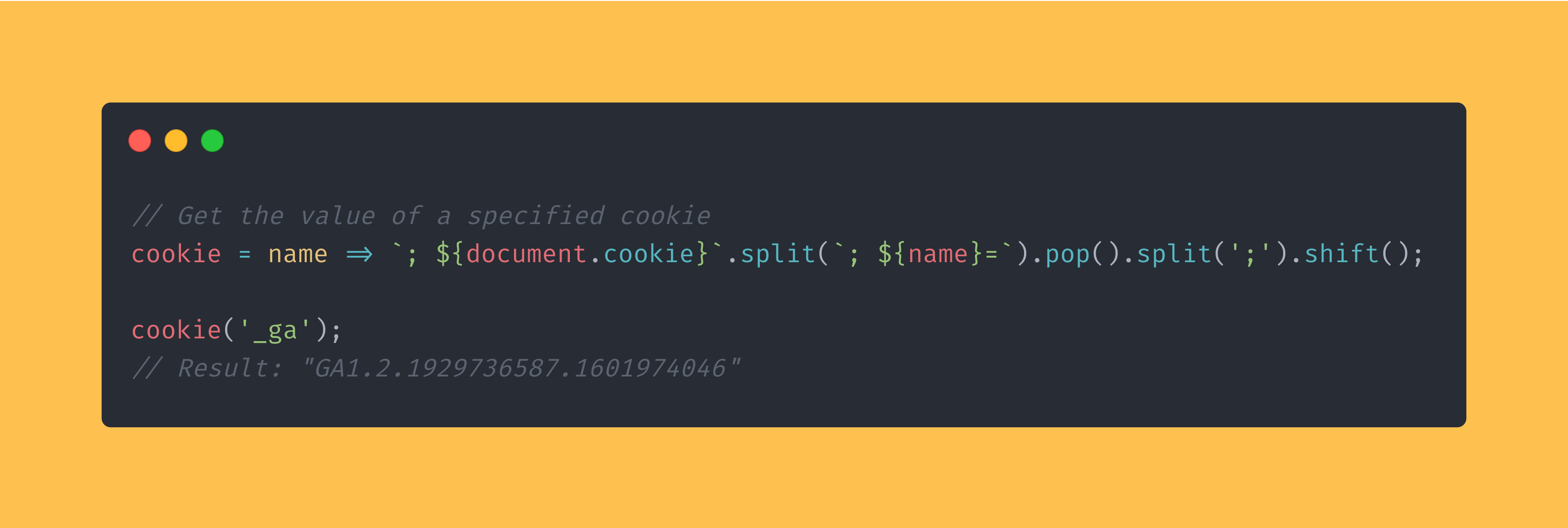JavaScript function that reads the value of a specific cookie