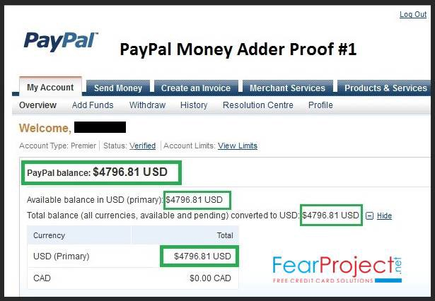 we are happy to present to you the newest paypal money adder you have always dreaming of adding money instantly to your account its possible now