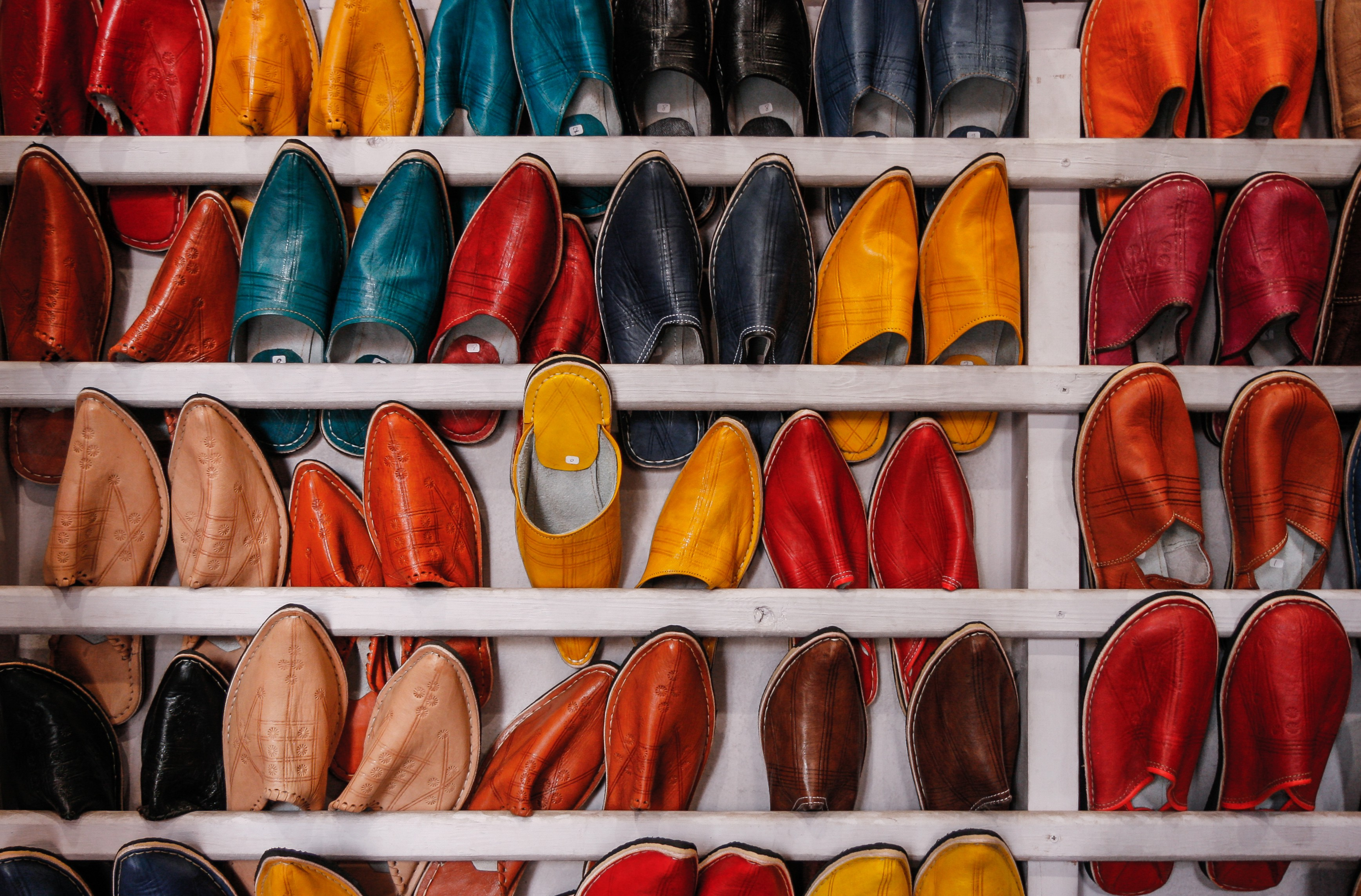 An inventory of shoes